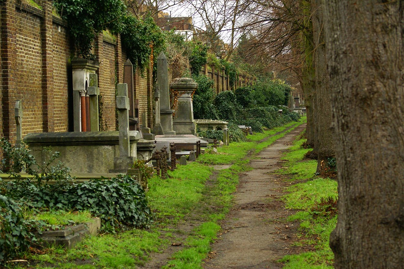 Brompton Cemetry is one of London's Magnificent Seven historic cemetries