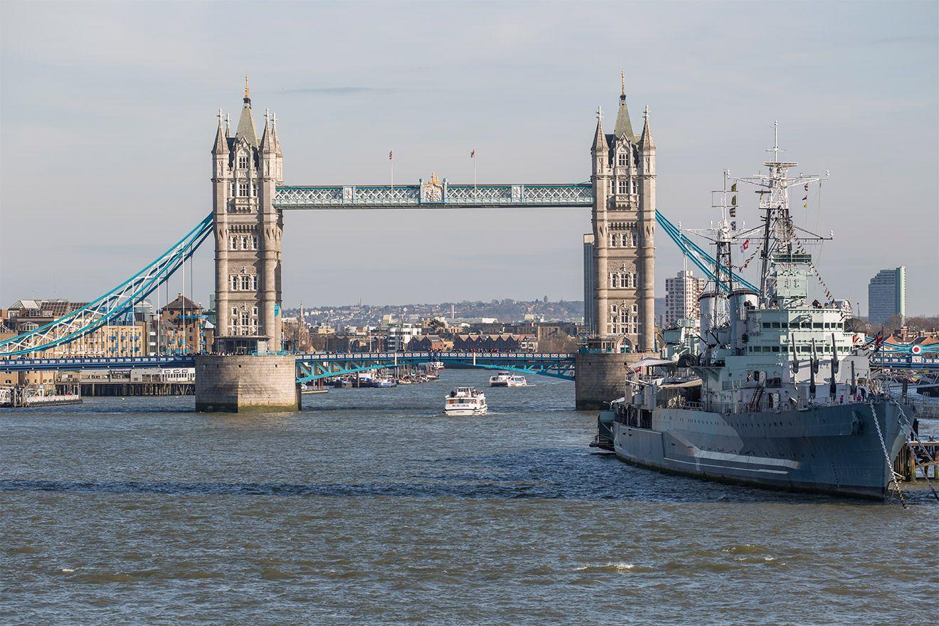 Iconic Tower Bridge in London