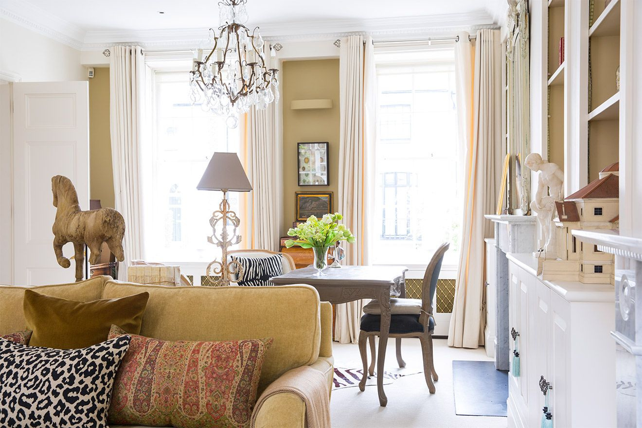 Comfortably appointed living room of the Victoria rental offered by London Perfect