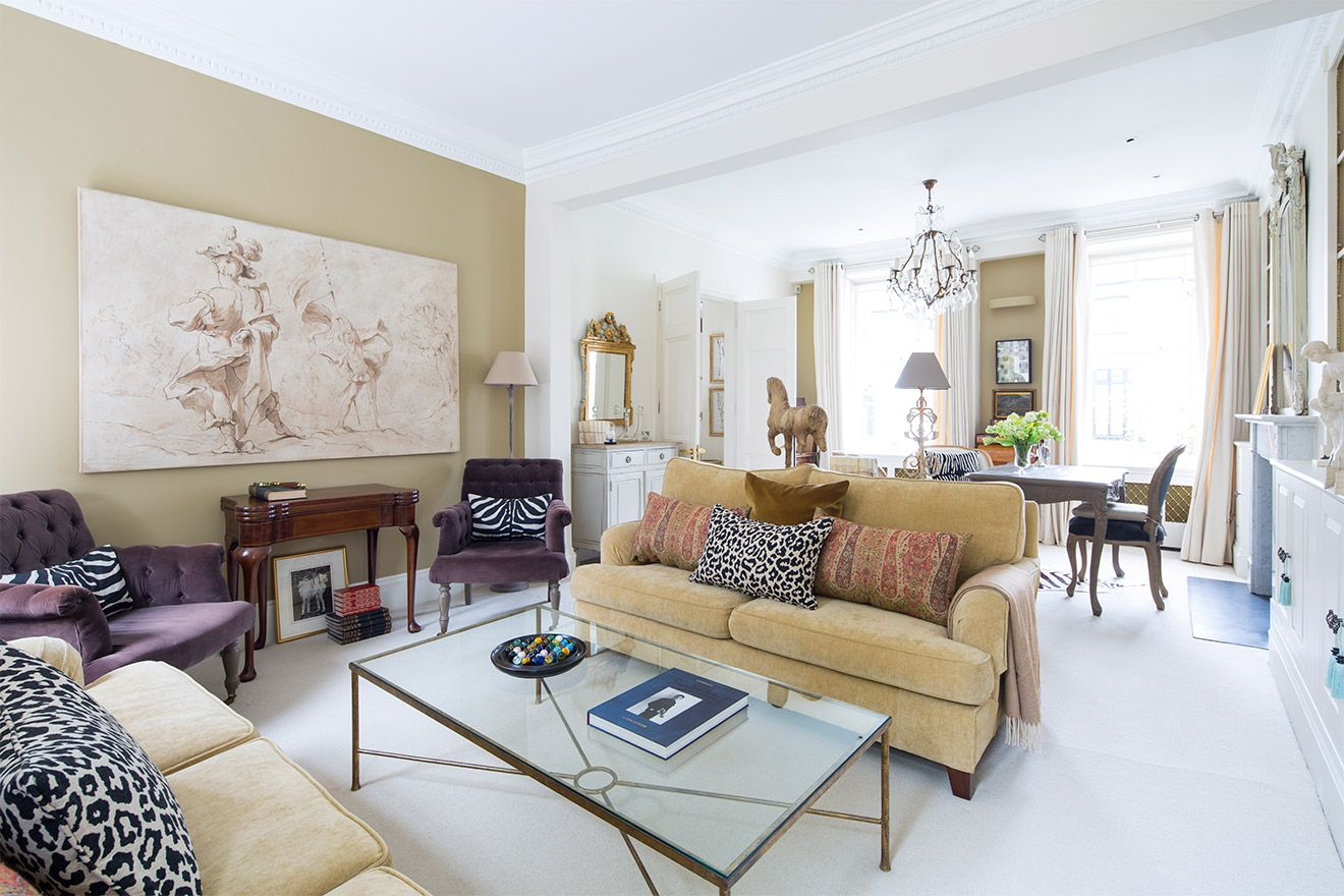 Finely appointed living room of the Victoria rental offered by London Perfect