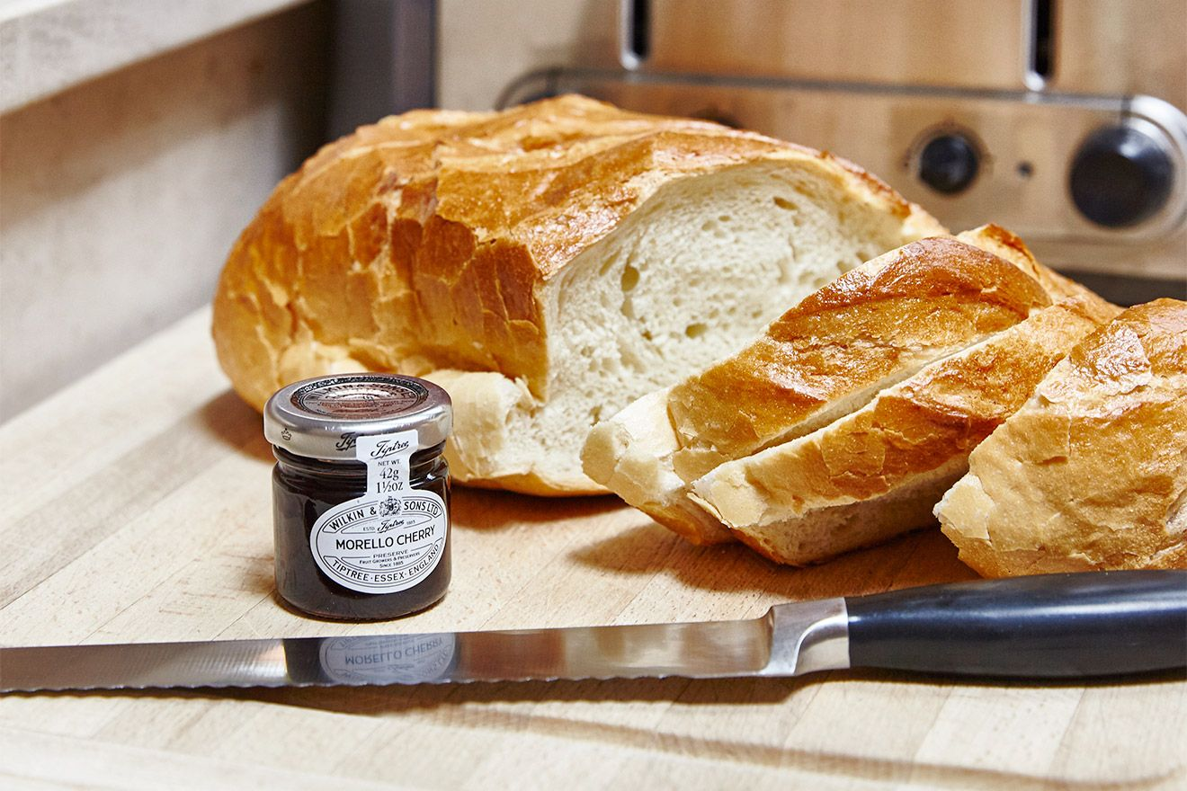 Fresh bread in the kitchen of the Victoria rental offered by London Perfect