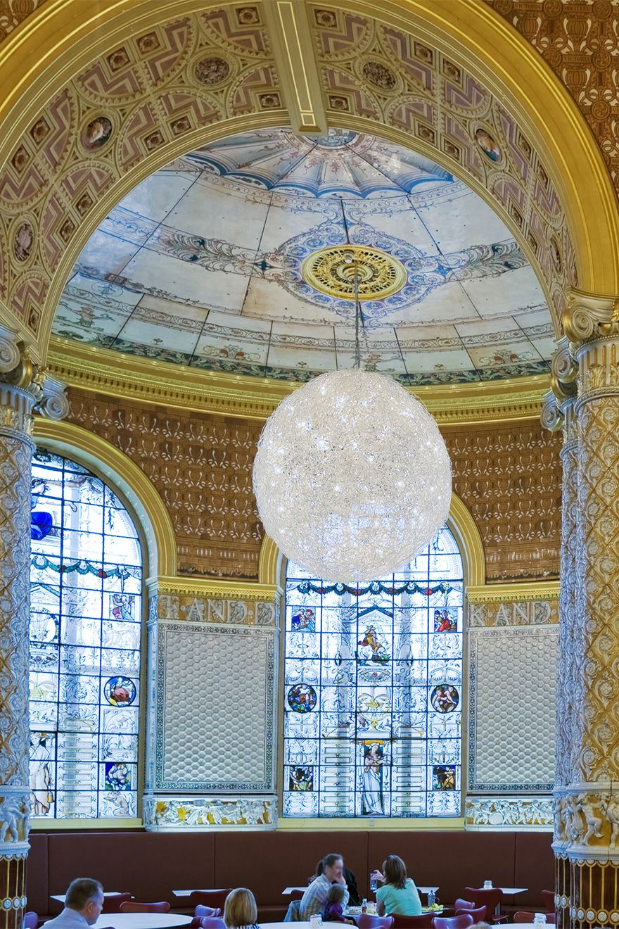 Stunning ceiling at the V&A cafe