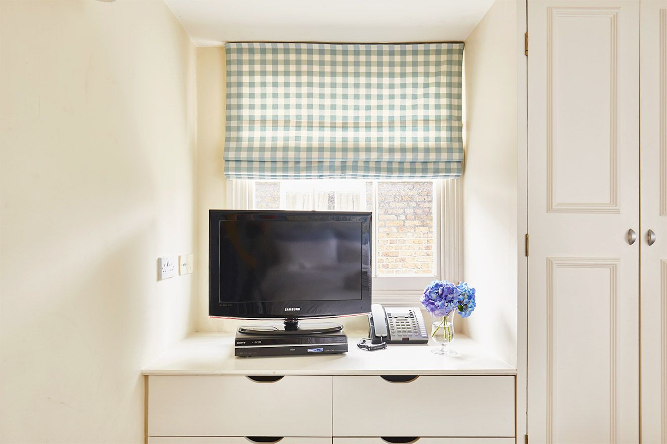 Flat screen TV in the Fourth bedroom of the Victoria rental offered by London Perfect