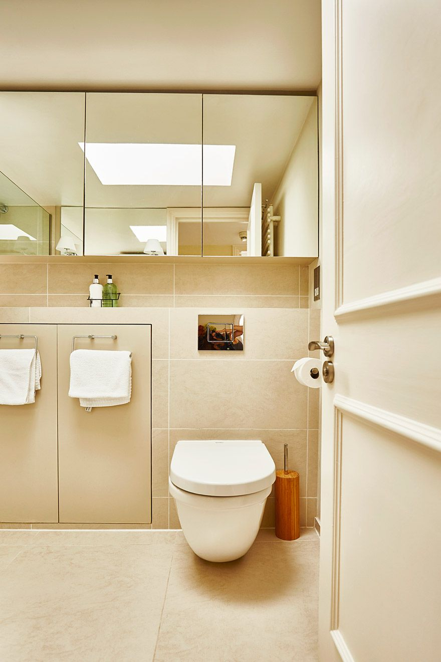 Toilet in the upstairs bathroom of the Victoria rental offered by London Perfect