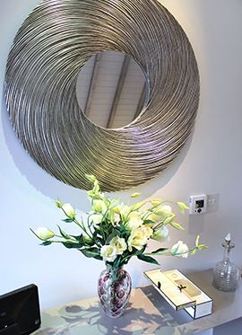 A swirl of design in the living room