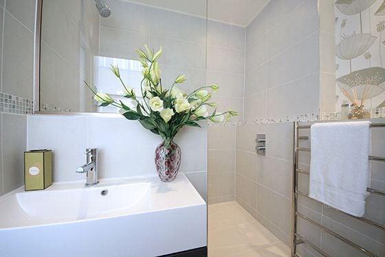 Large walk-in shower in en suite bathroom
