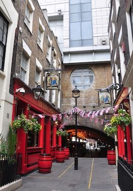 The classic Ship & Shovel pub in London