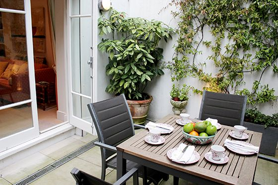 Patio Garden of the Christchurch vacation rental offered by London Perfect