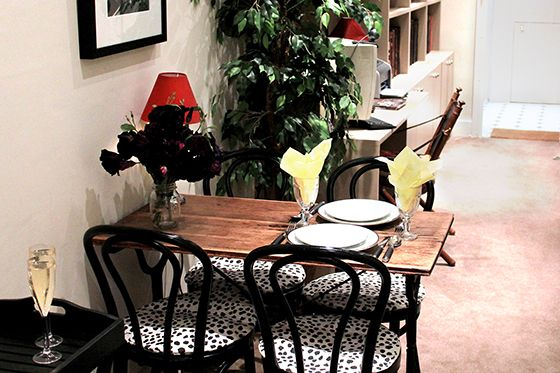 Dining table for enjoying meals in cosy home setting