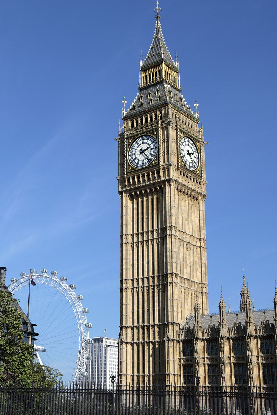 Westminster and Big Ben in London