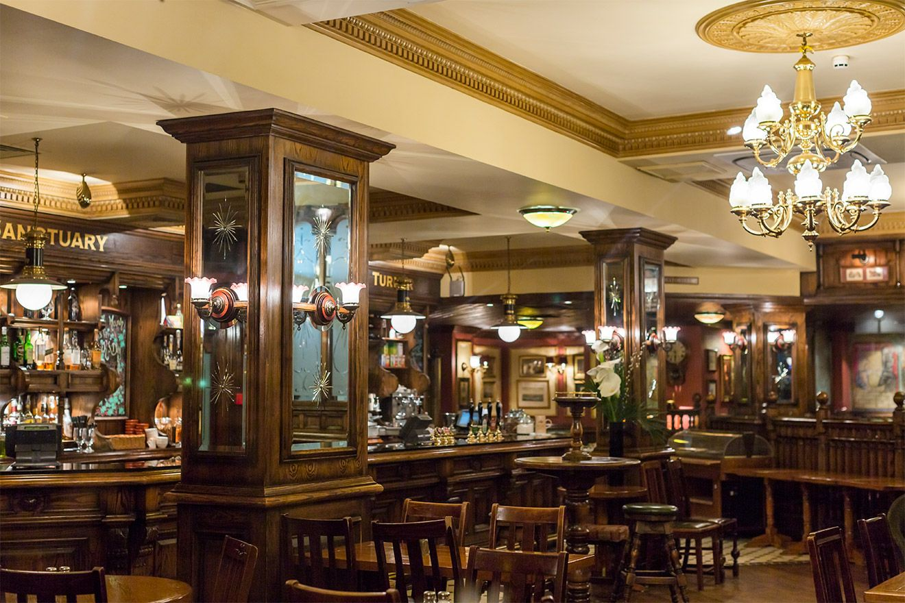 Interior of a classic English Pub in London