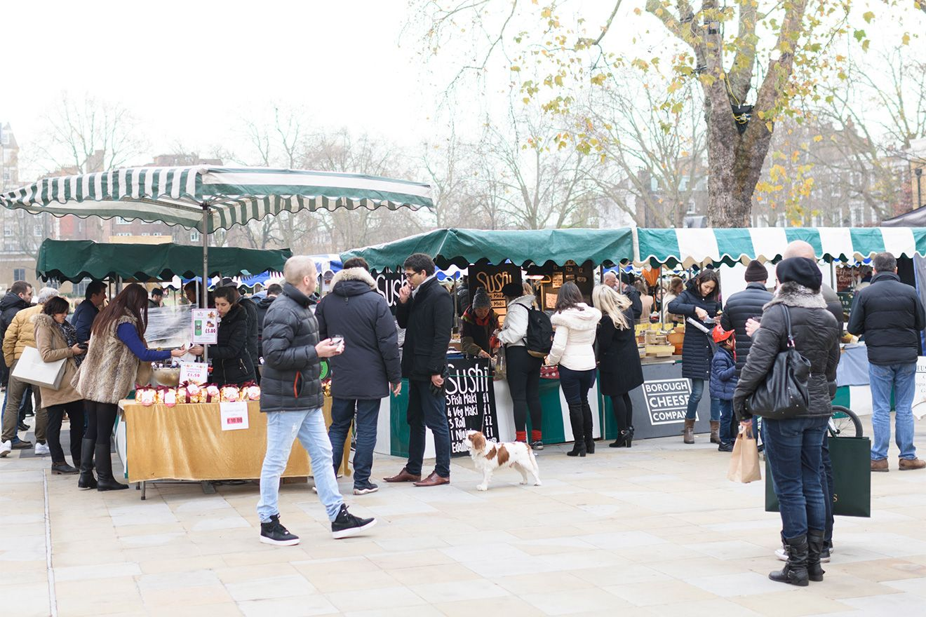 Sloane Square Market in Chelsea London