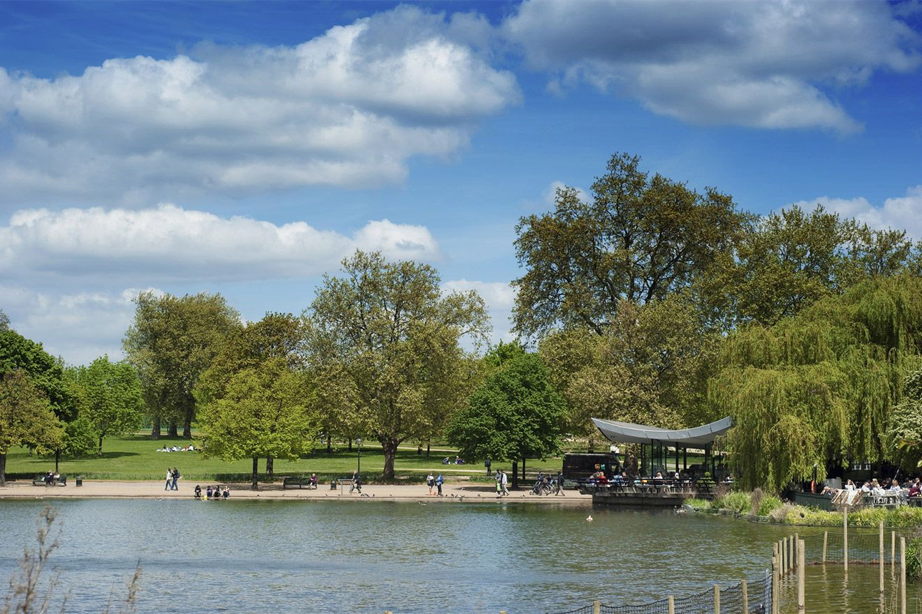 Serpentine Lake at Hyde Park London