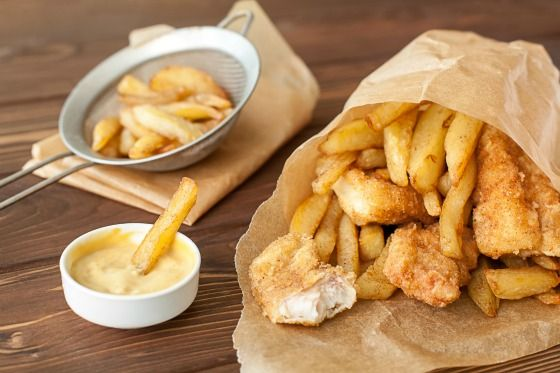 Fish and chips on your trip to London