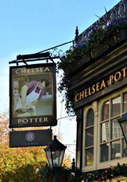 Chelsea Potter pub on the famous King's Road London