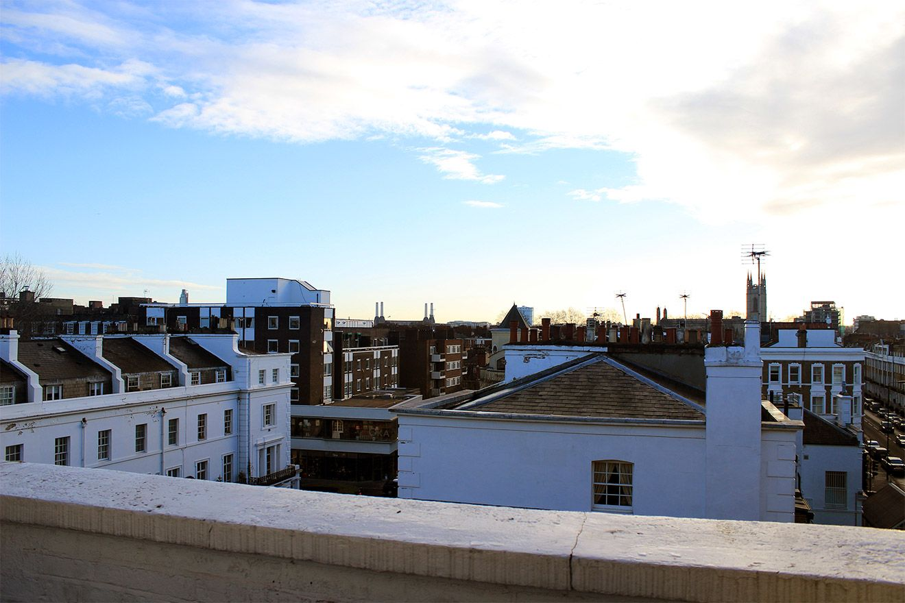 Views over the rooftops of London in the Cavendish vacation rental