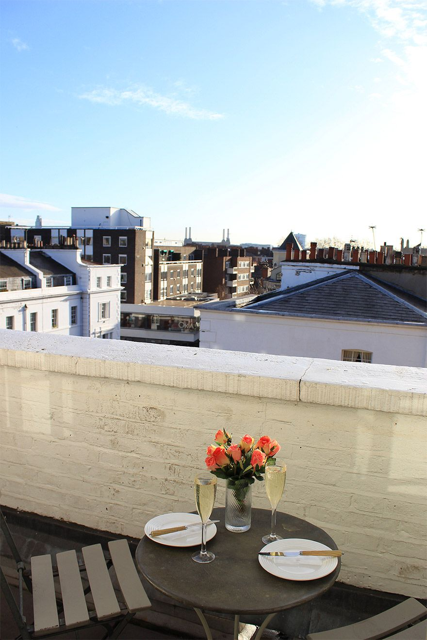 Sip tea on the balcony of the Cavendish vacation rental offered by London Perfect