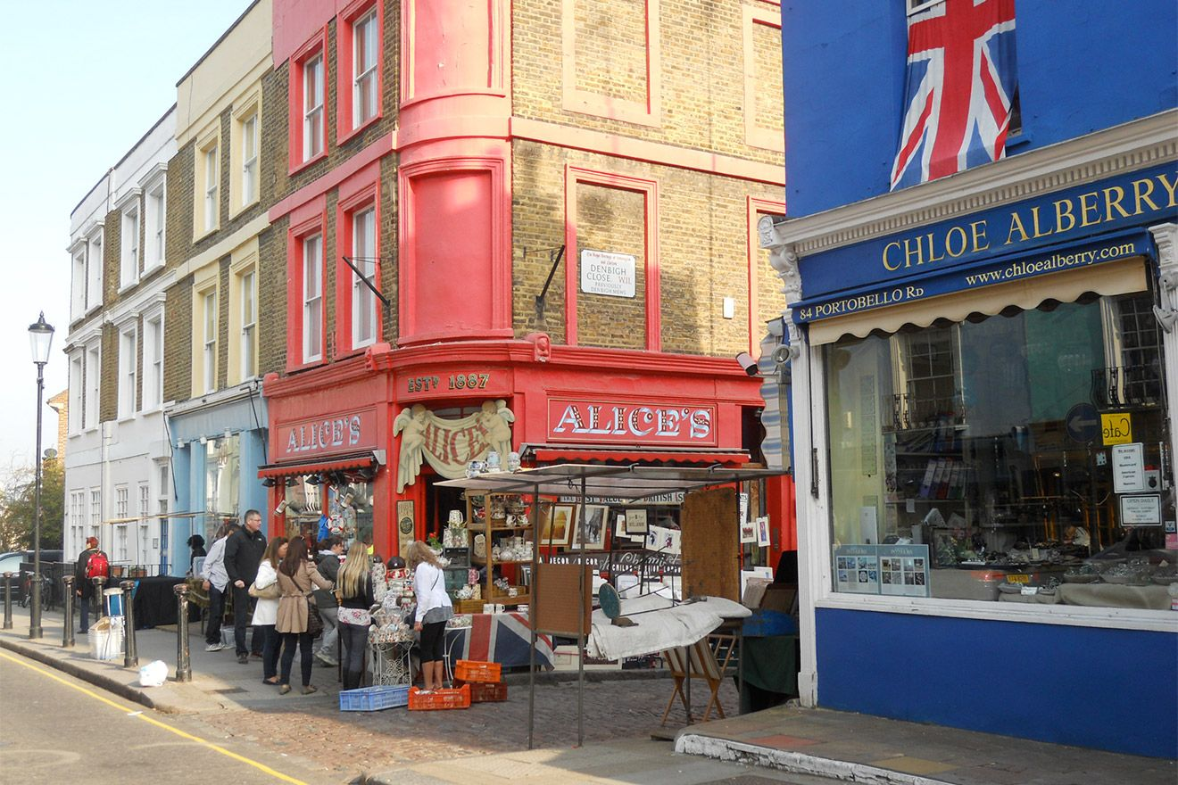 Visit Alice's Antiques for beautiful pieces on Portobello Road London