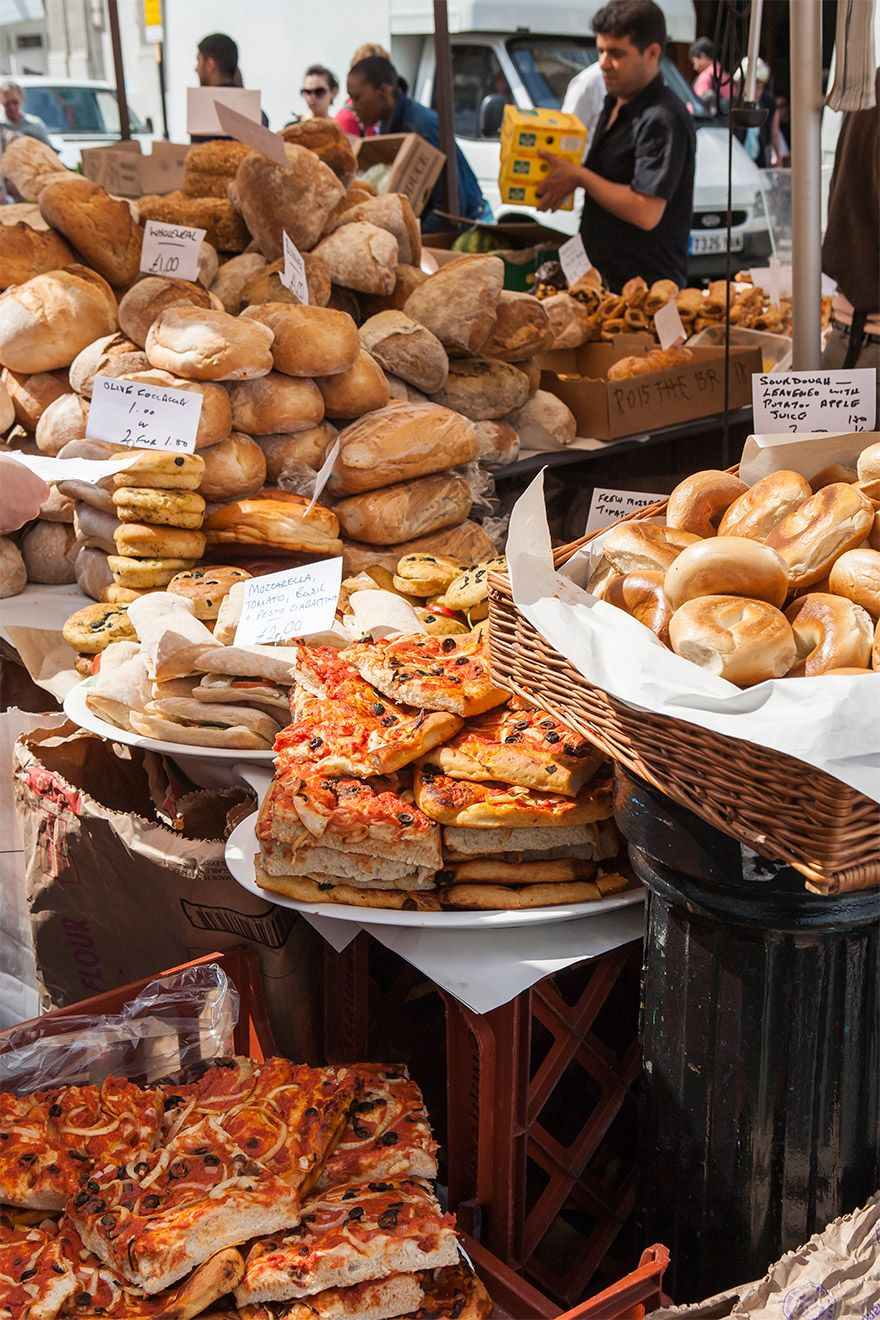 Fresh backed goods on Portobello Road Market