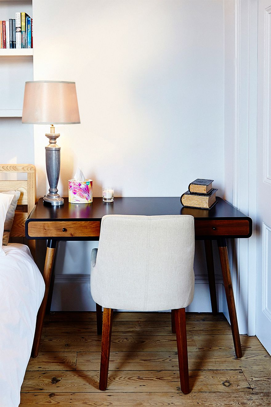 Writing desk next to the bed in The Gloucester vacation rental offered by London Perfect