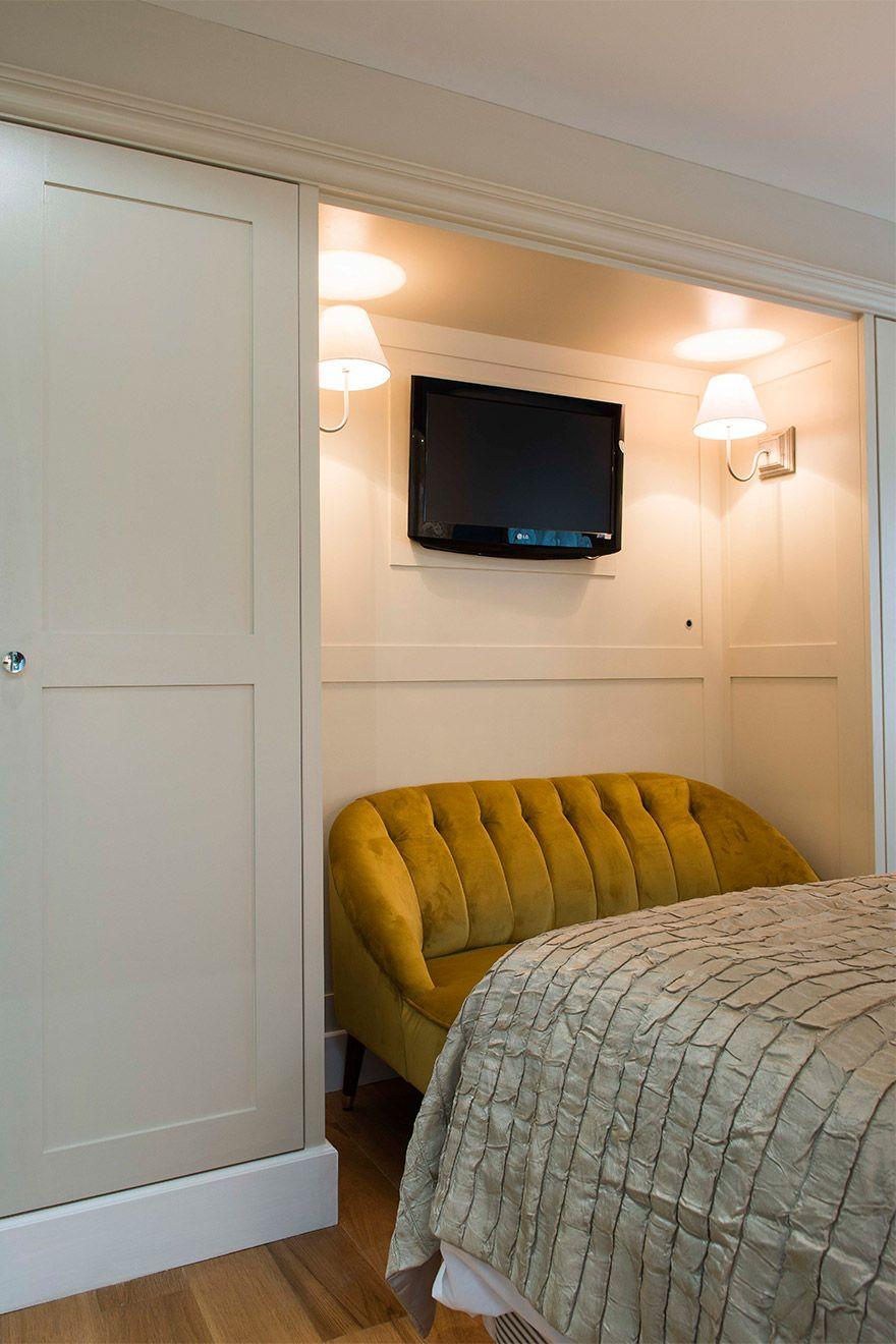 Large closets in the second bedroom of the Eldon vacation rental offered by London Perfect