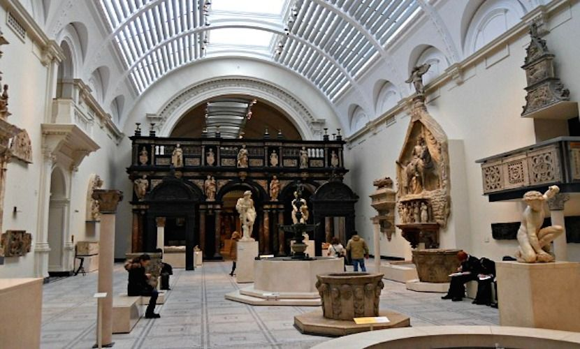 Interior of the Victoria and Albert Museum in London