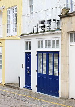 London Mews House Blue Door
