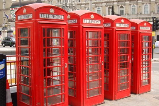 See the classic red telephone booths in South Kensington