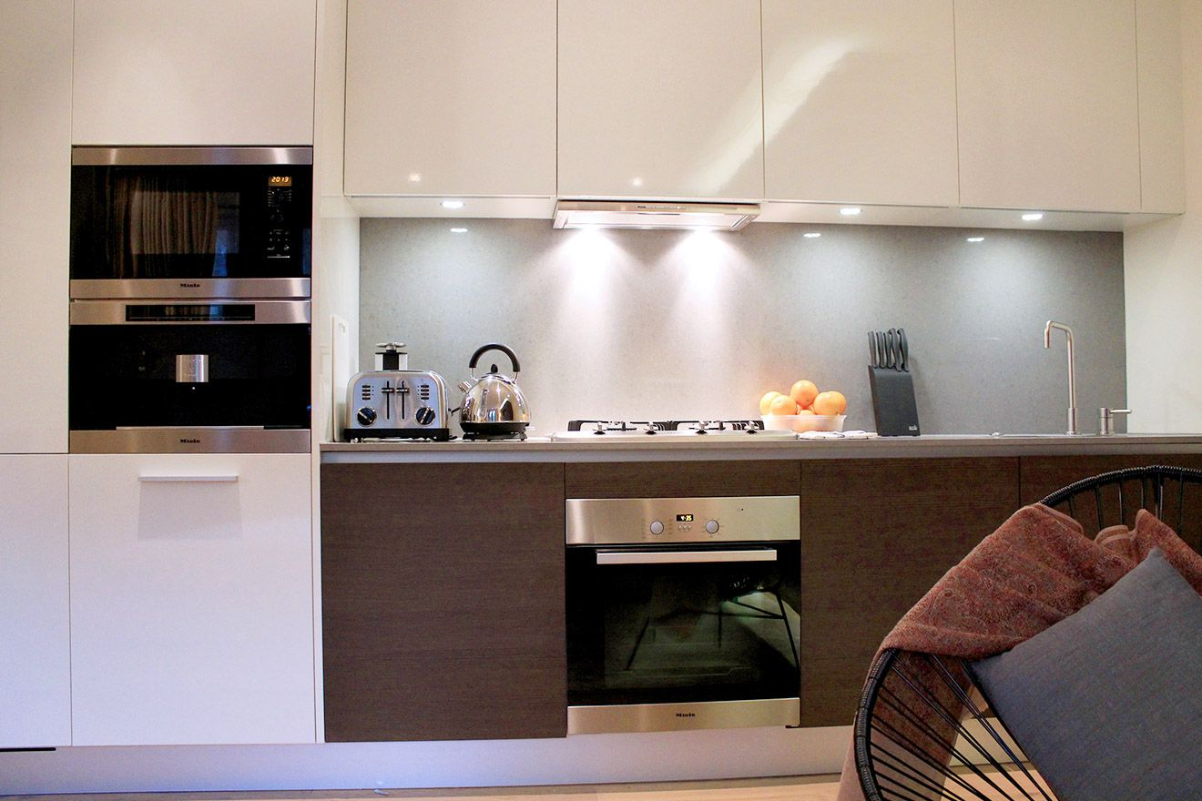 Fully equipped kitchen of the Pelham vacation rental offered by London Perfect