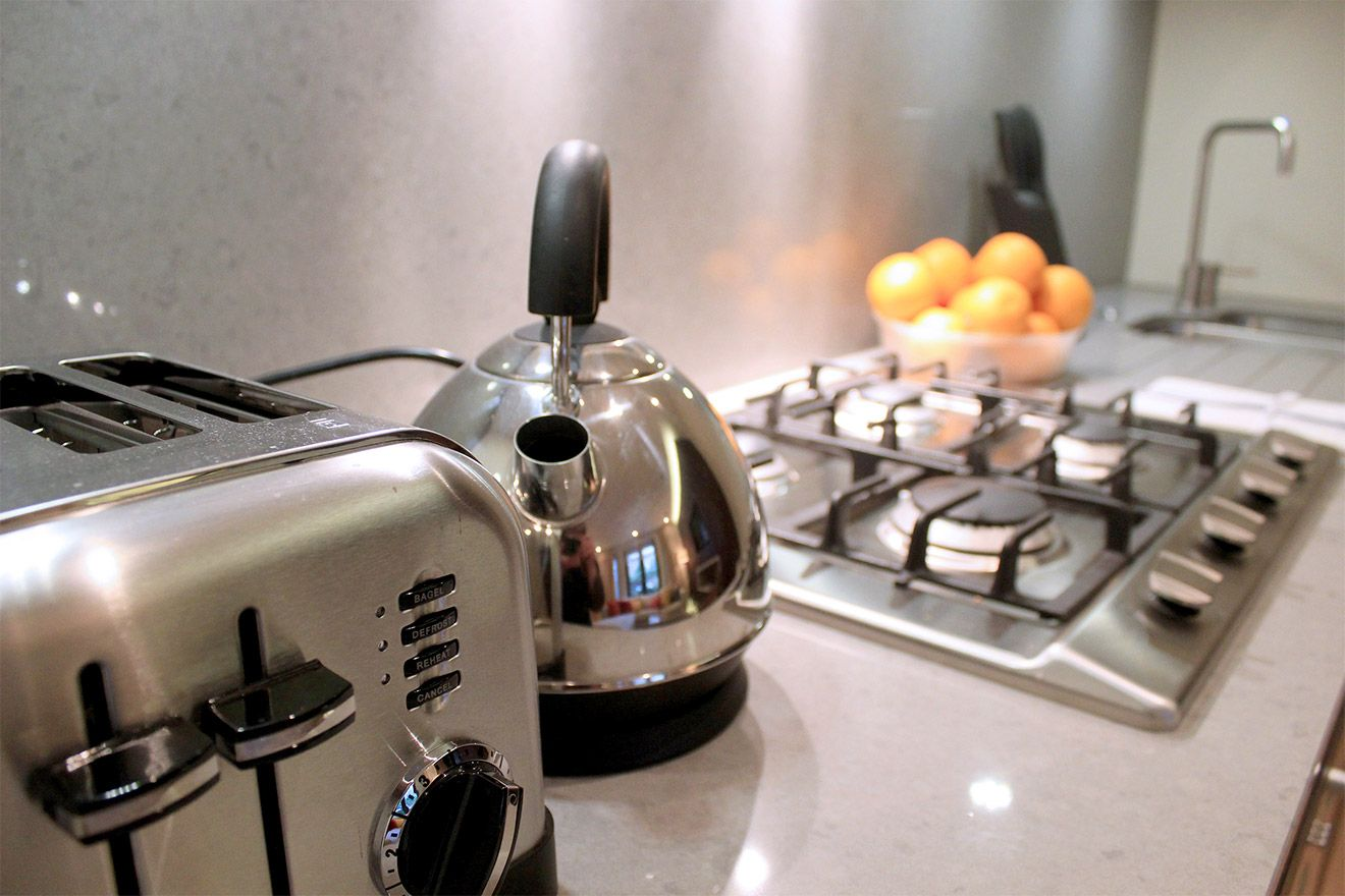 Stainless steel appliances in the Pelham vacation rental offered by London Perfect