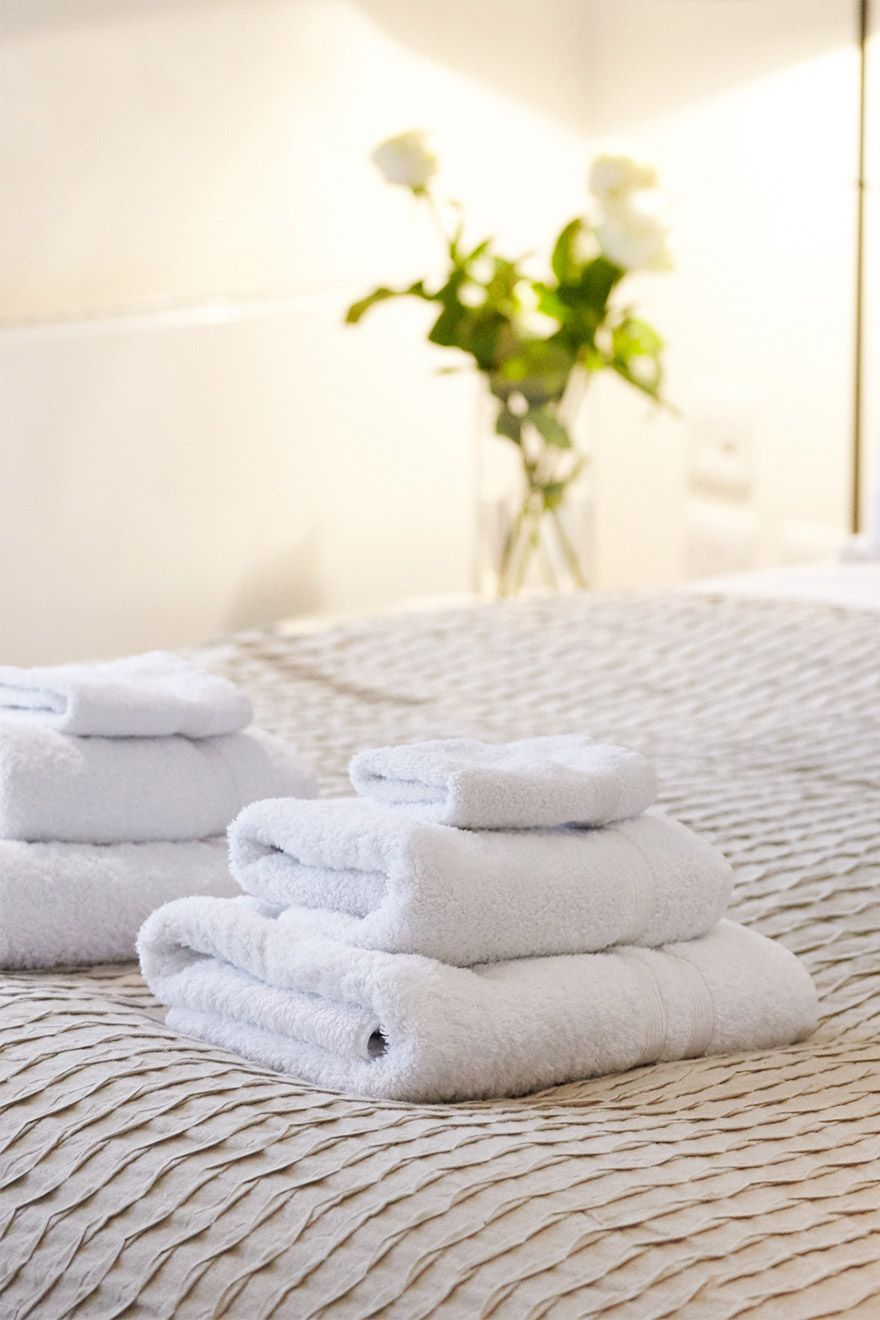 Fluffy towels await your arrival in the Pelham vacation rental offered by London Perfect