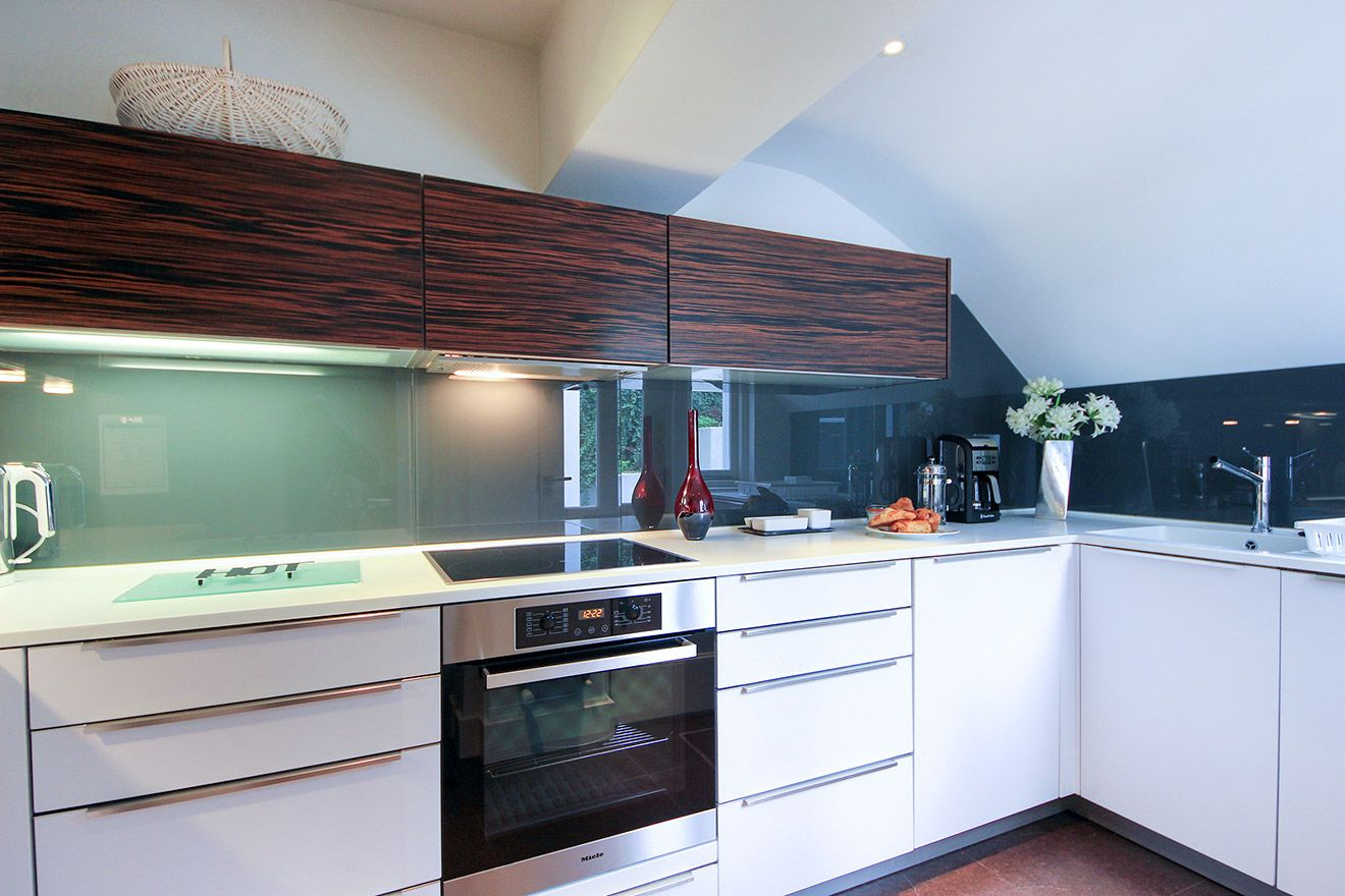Designer kitchen is fully equipped in the Gladstone vacation rental offered by London Perfect