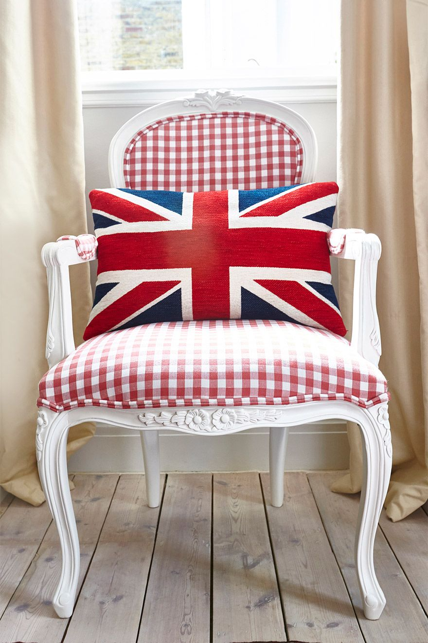 Union Jack Upholstered Chair in the MacDonald vacation rental offered by London Perfect
