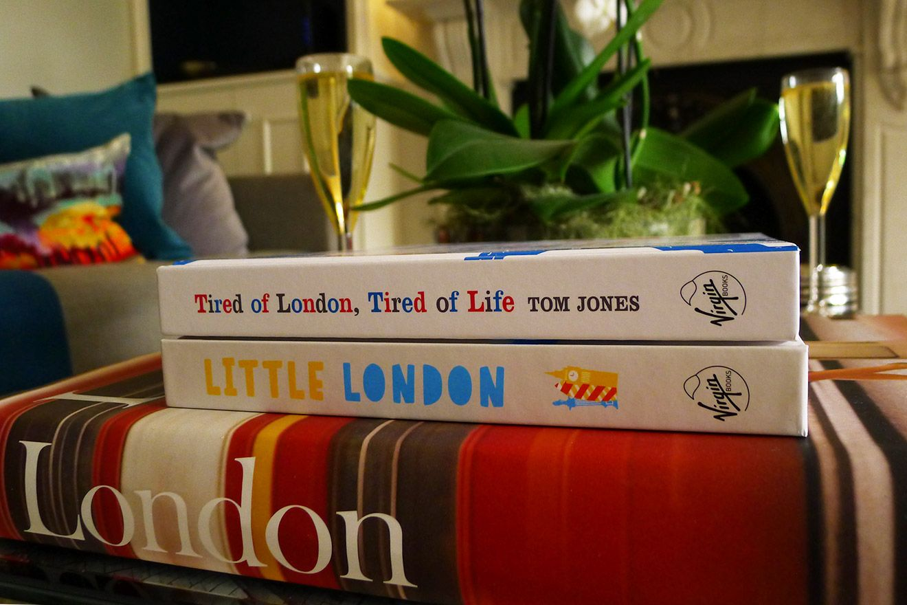 Collection of London based books in the Austen vacation rental offered by London Perfect
