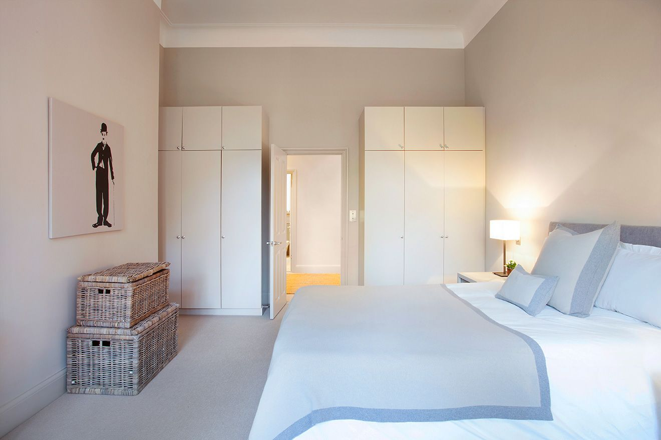 Abundant storage in the first bedroom of the Sloane vacation rental offered by London Perfect