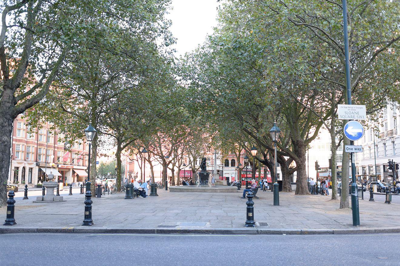 Sloane Square in Chelsea London