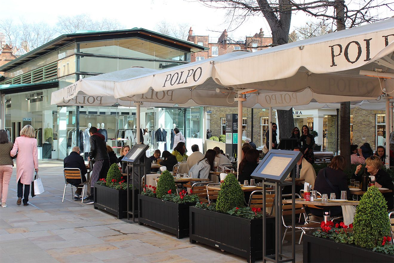Dine outdoors at Duke of York Square in Chelsea