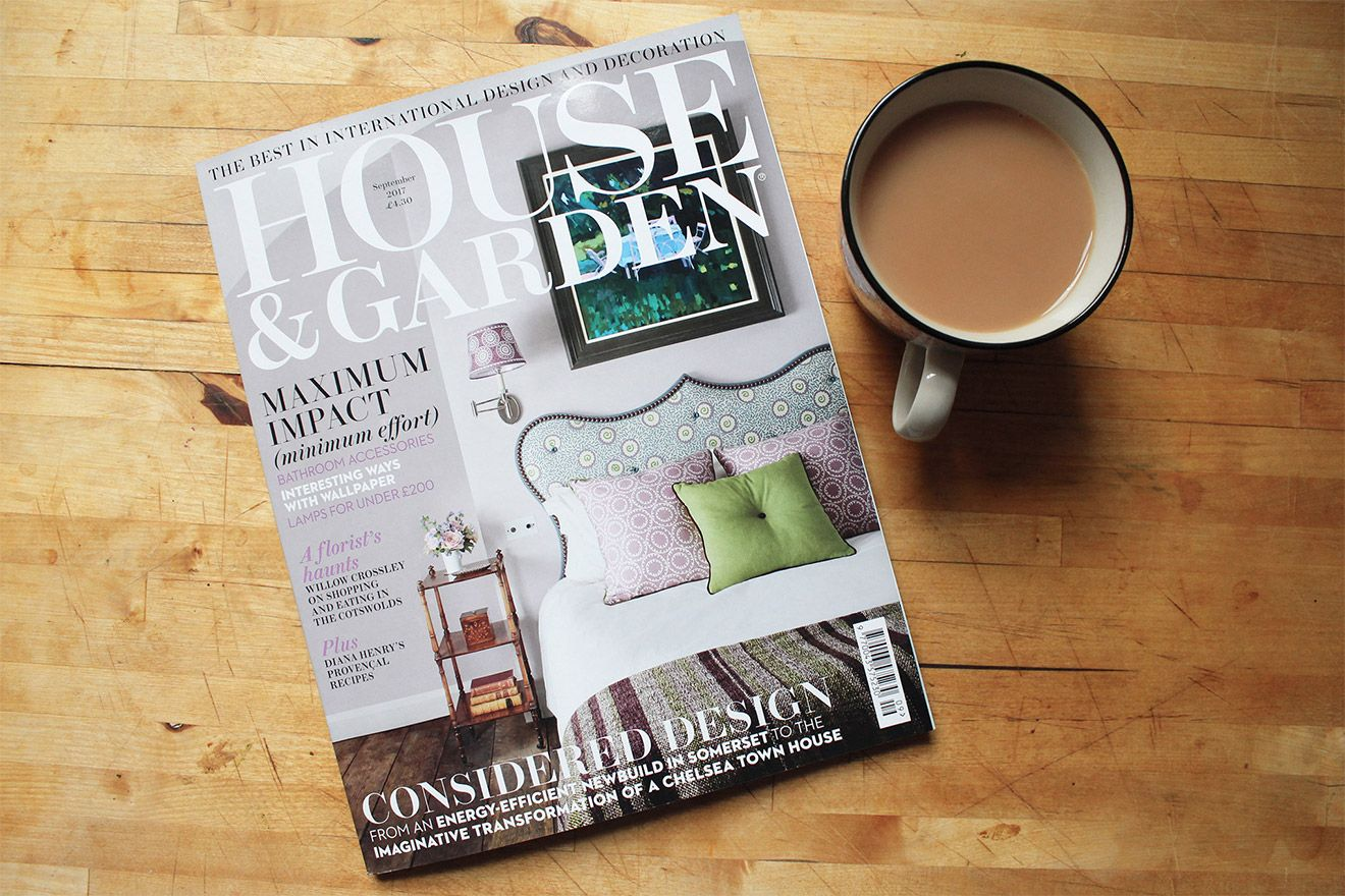 Wellington vacation rental was featured in House & Garden Magazine