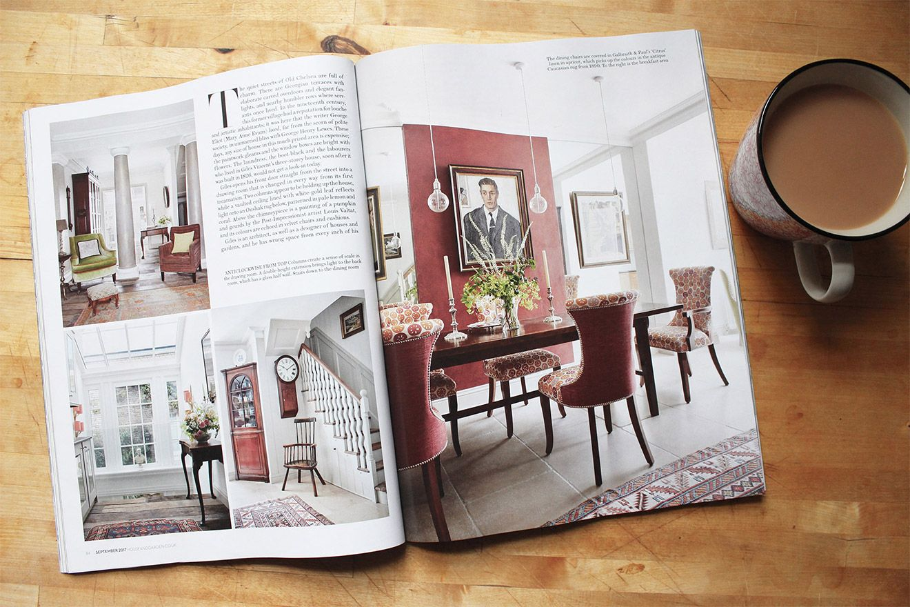 House and Garden Full page spread featuring the Interior Design at Wellington