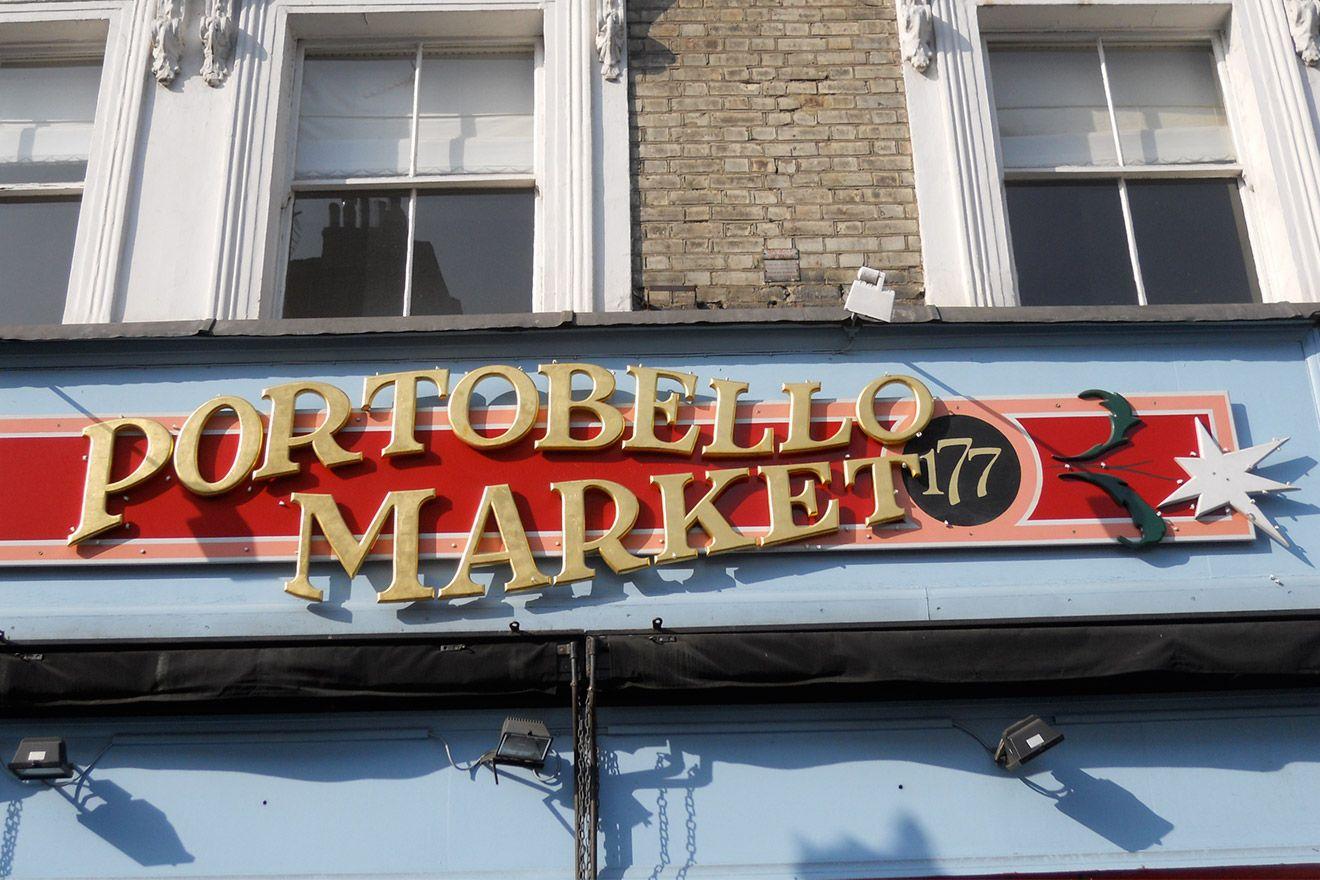 Portobello Road Markets Sign