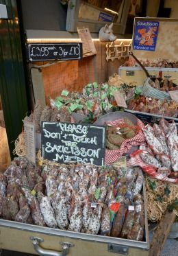 Fresh charcuterie in London market
