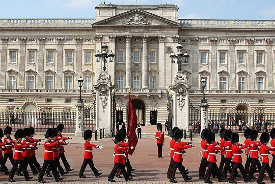 Changing of the Guard ceremony at Buckingham Palace