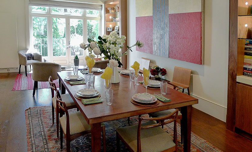 Elegant dining room of the Chatham vacation rental offered by London Perfect