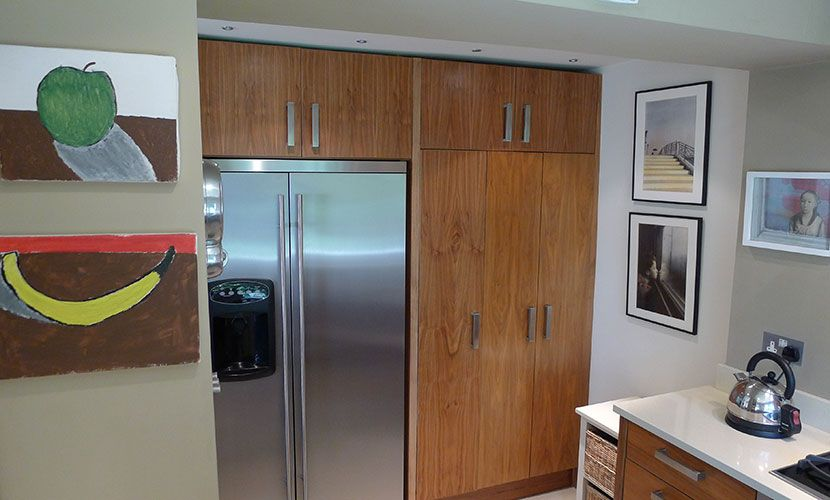 Full sized refrigerator and freezer in the kitchen of the Chatham vacation rental