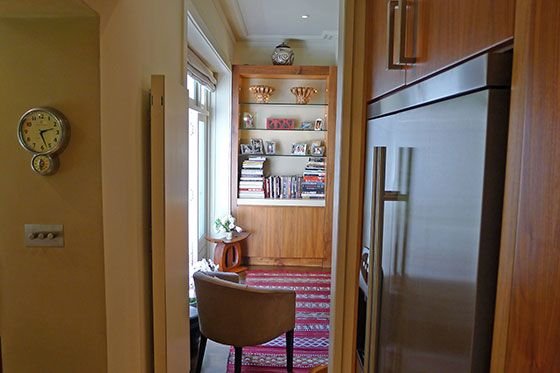 Kitchen towards seating area in the Chatham vacation rental offered by London Perfect