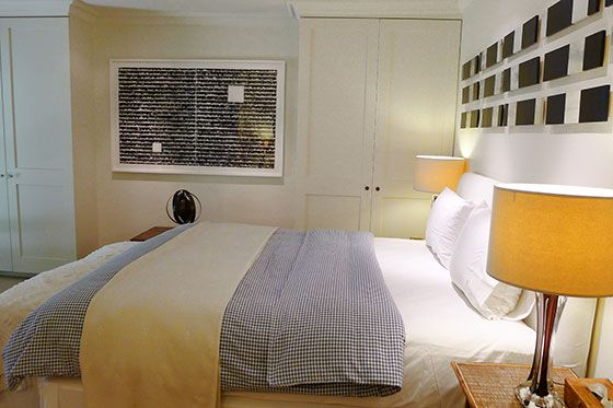 Plenty of storage in the first bedroom of the Chatham vacation rental offered by London Perfect