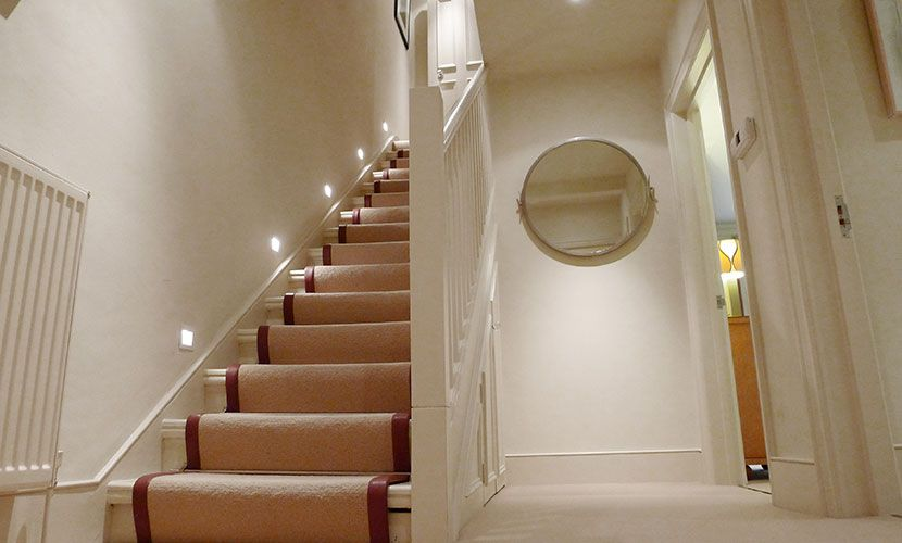 Staircase to lower ground floor in the Chatham vacation rental offered by London Perfect