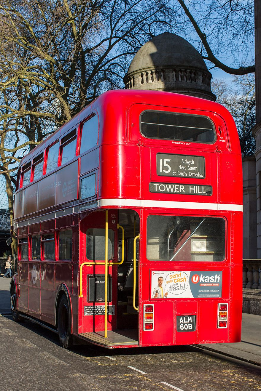Classic London bus
