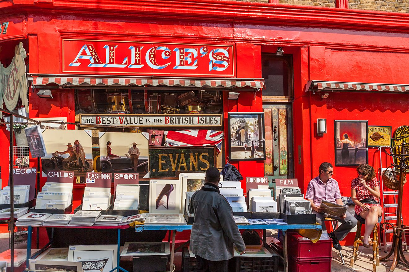 Alice's shop on Portobello Road