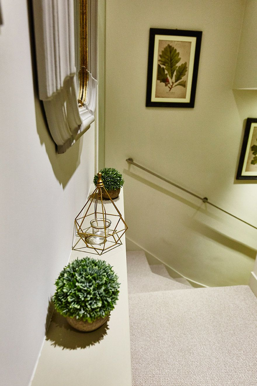 Elegant staircase of the Danebury vacation rental offered by London Perfect
